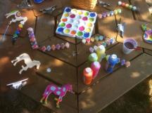 picnic table w color