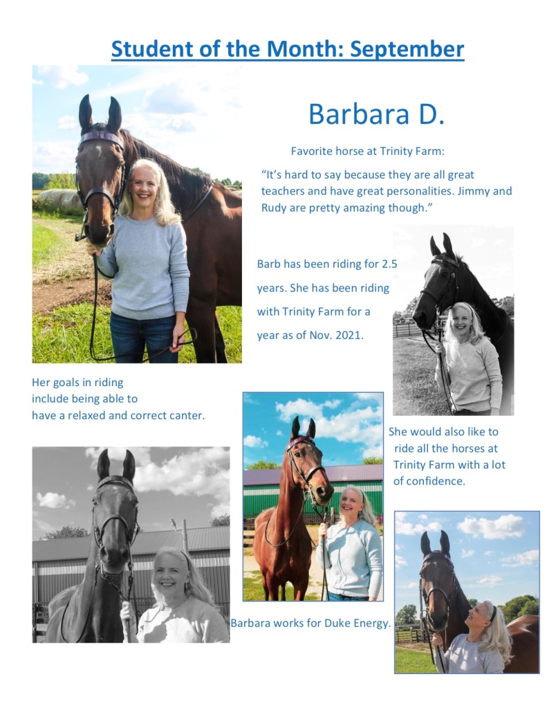 Student of the Month - September 2021: Barbara D.